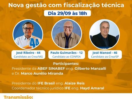 ELEIÇÕES CONFEA // CREA // MÚTUA = 01/10/2020 = PRESENCIAL