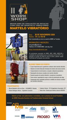 Apoio ao II Workshop Brasileiro de Cravação de Estacas com Martelo Vibratório