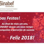 Recesso: SINABEF e ABEF retomarão as atividades em 2 de janeiro