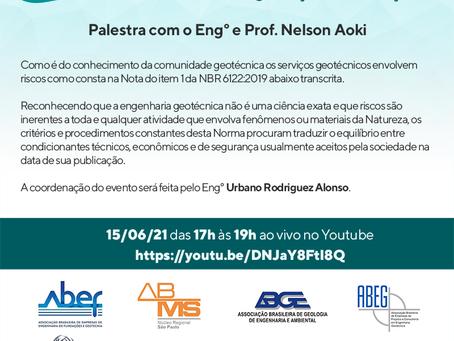 PALESTRA COM PROFESSOR E ENGENHEIRO NELSON AOKI - em 15/06/2021 das 17h as 19h.