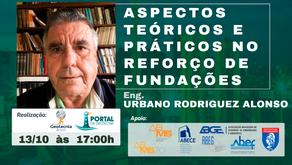 Convite Palestra Engº URBANO ALONSO dia 13/10/2021