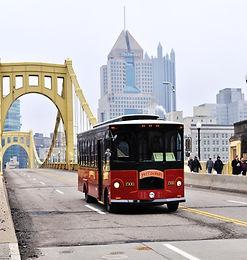 Molly's Trolleys Roberto Clemente Bridge Pittsburgh