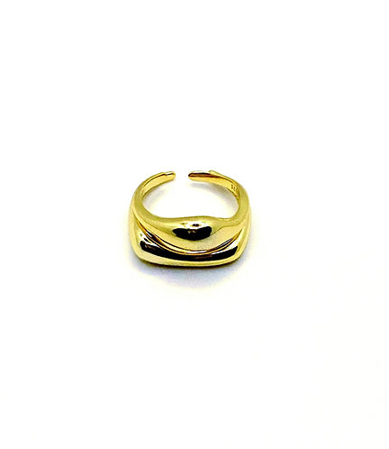 Kylie Irregular Arc Minimalist Ring Set
