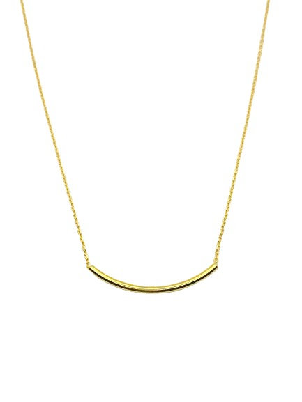 Jessica Long Tube Necklace