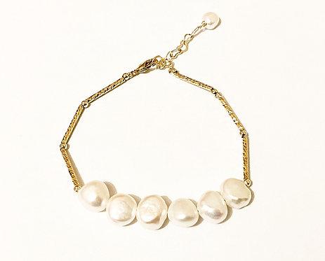 Freshwater Pearl Geometric Minimalist Bracelet