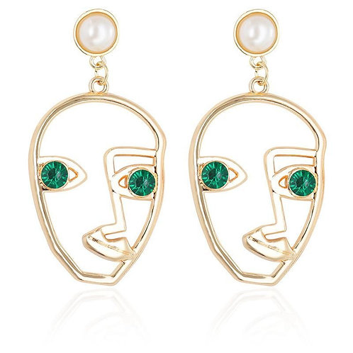 Exaggerated Facial Expression Earrings