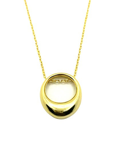 Lola Thick Oval Necklace