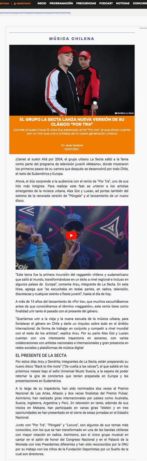 Radio Los 40.cl - Web