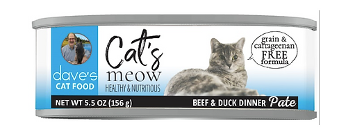 Cat's Meow Beef with Duck Dinner Canned Cat Food