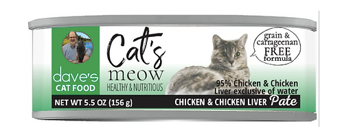 Cat's Meow 95% Chicken & Chicken Liver Canned Cat Food