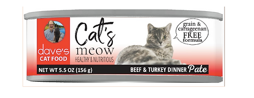 Cat's Meow Beef with Turkey Dinner Canned Cat Food