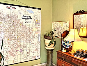 Map room at Dickinson Guest House in Gua