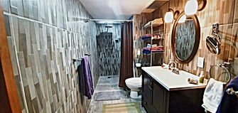 New bathroom added in 2020 for larger gr