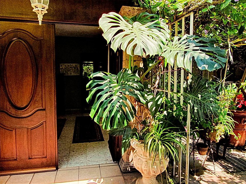 Door to property after keypad entry secu