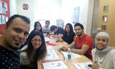 Clases grupales en institutos británicos