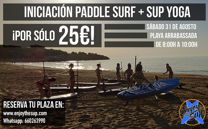 iniciacion paddle surf + sup yoga 31 jul