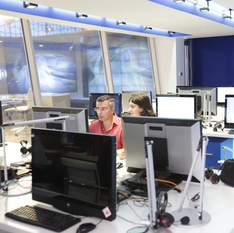 TV9 Headquarters Newsroom