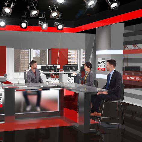 NHK World Japan Newsroom & Studio