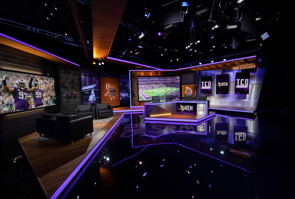 Minnesota Vikings Broadcast Set