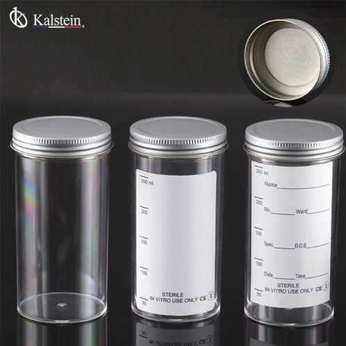 Envase para muestras tapa metalica con sello inerte