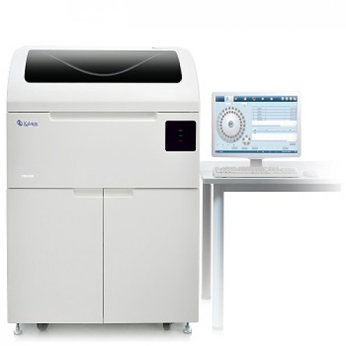 Analizador de coagulación con escáner de código de barras