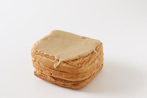 Vierkant mokka pudding