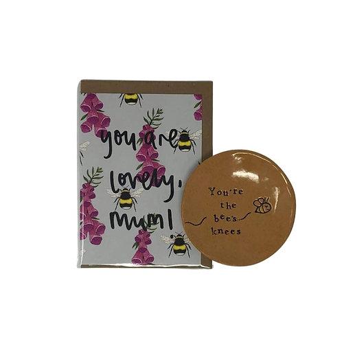Bees Knees mini dish and card