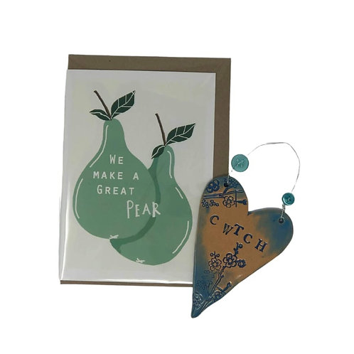 A Great Pear Card and Cwtch Heart