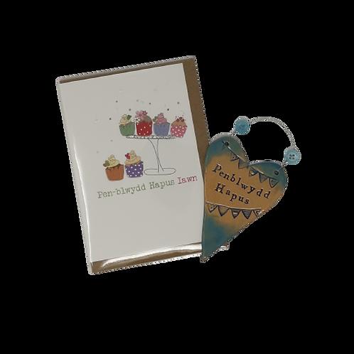 No. 1 Penblwydd Hapus Birthday card & gift