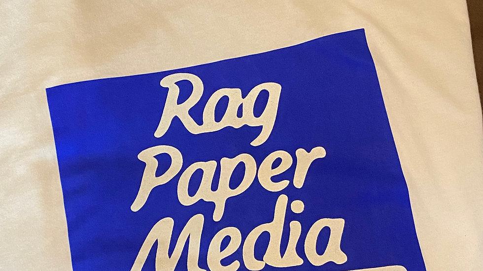 Ragpapermedia Podcast T-Shirt White