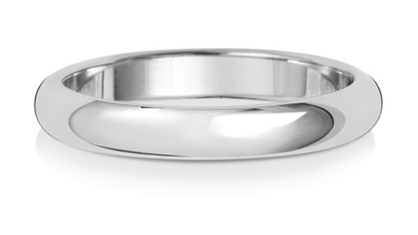 9ct w/g Gents 3mm Band