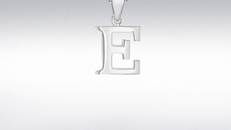 Silver Plain Initial /Chain