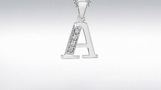Silver Cz Initials/chain