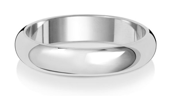9ct w/g Gents 4mm Band