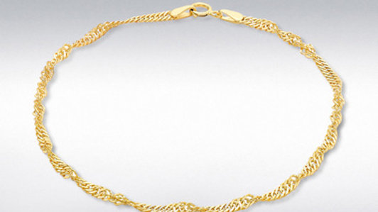 9ct Gold Twisted Curb Bracelet
