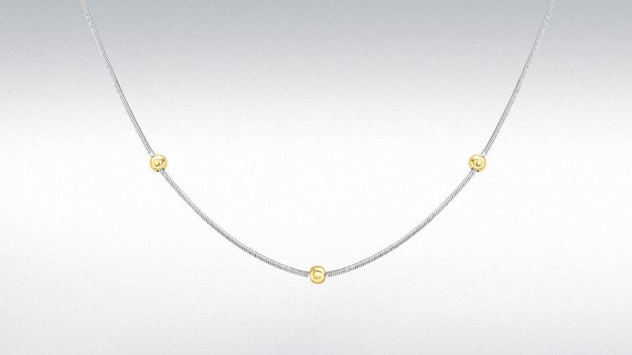 9ct w/gold &yellow Beads Chain