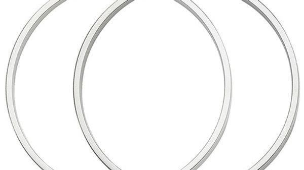 Silver 50mm Hoop