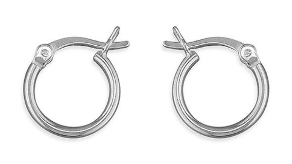 Silver 12mm Hoop
