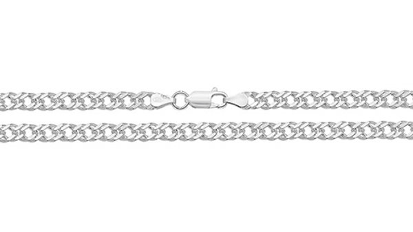 """Silver 20"""" Double Curb Chain"""