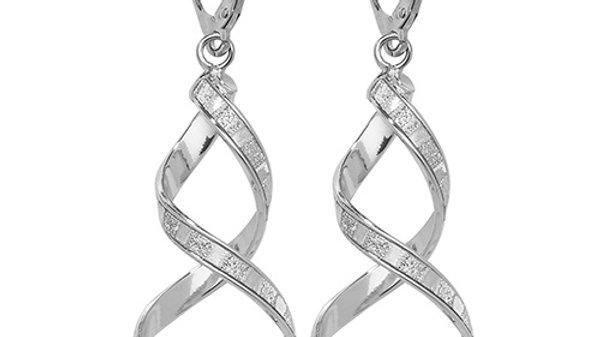 9ct White Gold Stardust Earrings