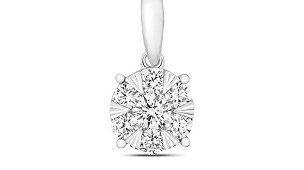 18ct Diamond .33pt  Star Cluster Pendant