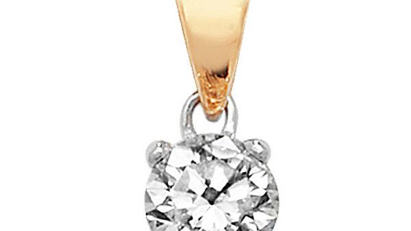 18ct Diamond Solitaire.30pt Pendant
