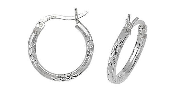 Silver Hoops