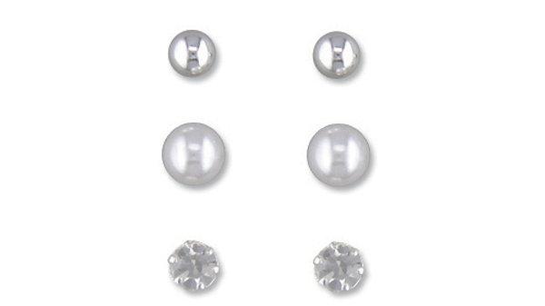 Silver 3box Earrings