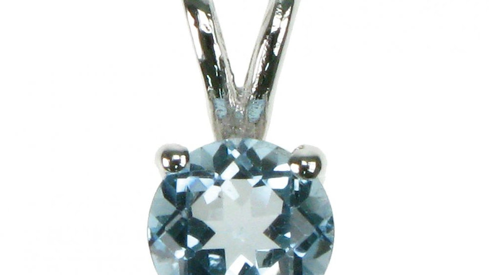 Silver Real Blue Topaz Pendant
