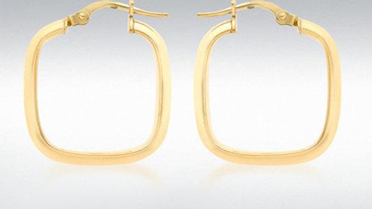 9Ct Gold Tv Hoop Earrings