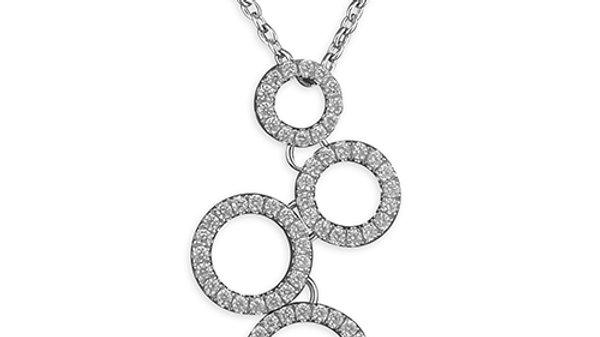 Silver Cz   Pendant/Chain