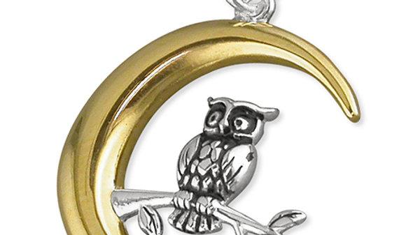 Silver Night Owl Pendant