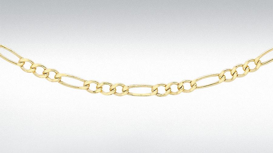 """9ct Gold 20""""Figero Chain"""
