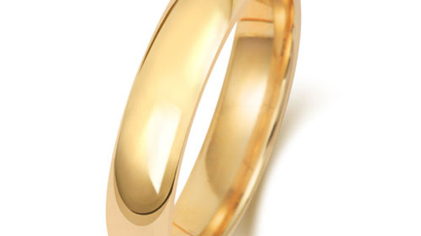 9ct 4mm  Gents Court Wedding Ring